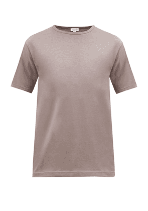 Sunspel - Classic Crew Neck Cotton T Shirt - Mens - Grey