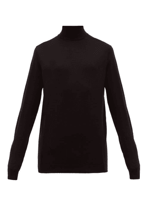 Sunspel - Roll Neck Merino Wool Sweater - Mens - Black
