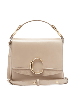 Chloé - The C Small Leather Shoulder Bag - Womens - Grey