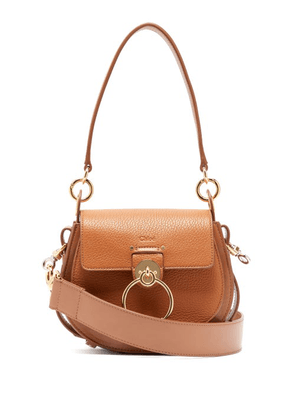 Chloé - Tess Small Textured Leather Cross Body Bag - Womens - Tan