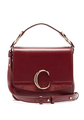 Chloé - The C Mini Leather Cross Body Bag - Womens - Burgundy