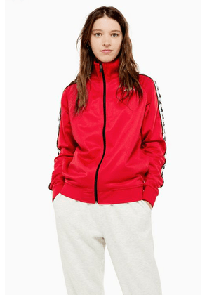 Womens Tape Track Top By Kappa - Red, Red