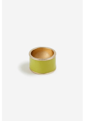 Womens **Thick Band Ring - Lime, Lime