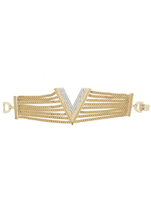 Turn Of The Century Versace Gilt Faux Diamond Chain Bracelet