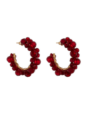Wiggle Small Beaded Hoop Earrings