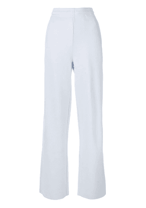 Moncler Grenoble casual wide leg trousers - Blue