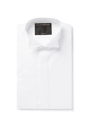 Favourbrook - White Slim-fit Wing-collar Double-cuff Cotton-poplin Shirt - White