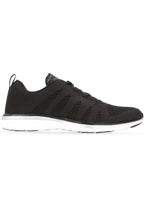 Apl panelled lace-up sneakers - Black