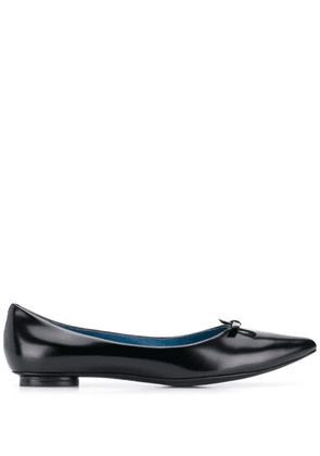 Marc Jacobs bow detail ballerina shoes - Black