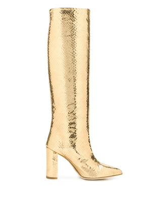 Paris Texas embossed knee boots - Gold