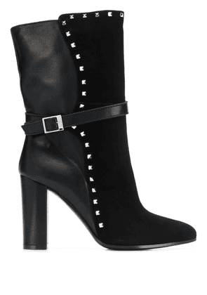 Via Roma 15 studded ankle boots - Black