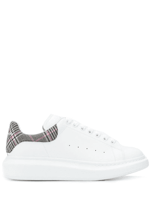 Alexander McQueen checked detail lace-up sneakers - White