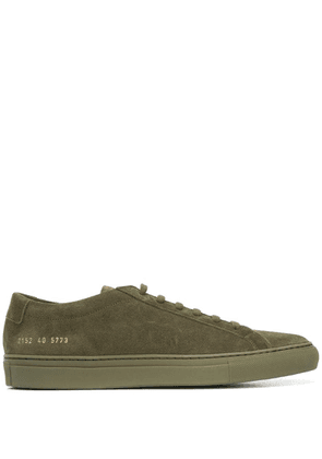 Common Projects stitching detail sneakers - Green