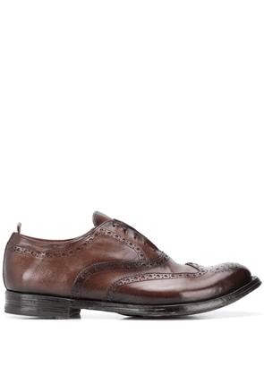 Officine Creative laceless Oxford shoes - Brown