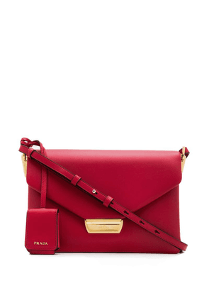 Prada logo envelope shoulder bag - Red