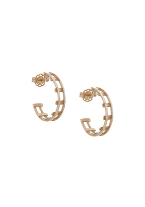 Natasha Schweitzer Revolution Hoop Earrings - Metallic
