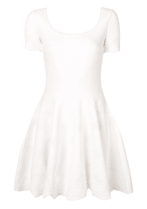 Alexander McQueen classic fit-and-flare dress - White