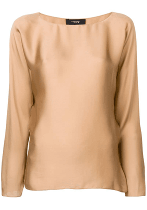 Theory round-neck blouse - Neutrals