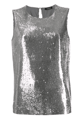 P.A.R.O.S.H. sequin embellished top - Silver