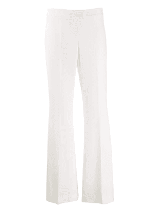 P.A.R.O.S.H. flared style trousers - White
