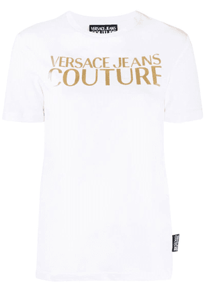 Versace Jeans gold-tone decal T-shirt - White