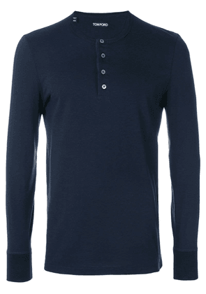 Tom Ford henley T-shirt - Blue