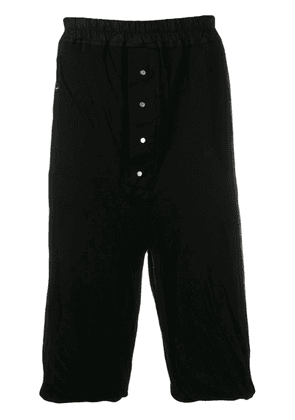 Rick Owens DRKSHDW drawstring cropped trousers - Black