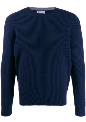 Brunello Cucinelli long-sleeve fitted sweater - Blue