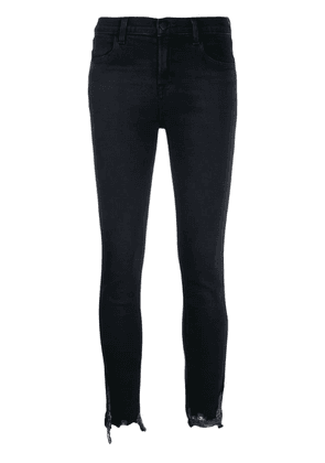 J Brand low rise chewed skinny jeans - Blue