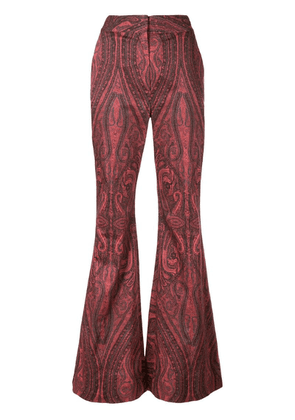 Adam Lippes paisley wide-leg trousers - Red
