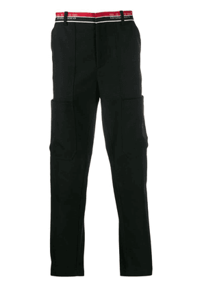 Bally logo stripe tailored trousers - Black