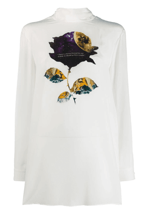 Valentino space rose print blouse - White