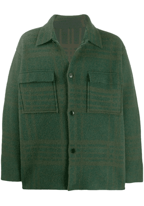 Jacquemus faded check military jacket - Green