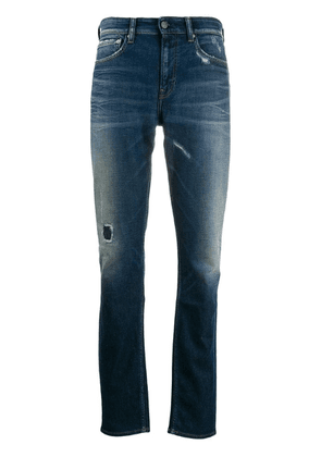 Calvin Klein Jeans distressed stonewashed jeans - Blue