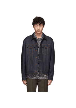 Nudie Jeans Blue Denim Dry Ring Jacket