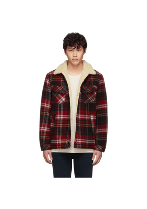 Nudie Jeans Red Plaid Wool Leeny Jacket
