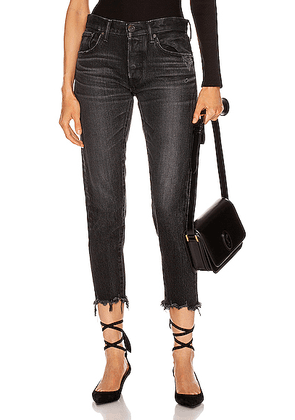 Moussy Vintage Staley Tapered Straight Leg in Black - Black. Size 26 (also in 24,25,27,28,29).