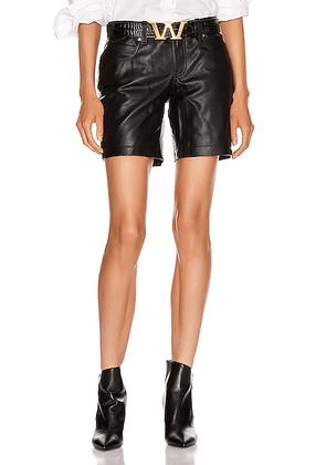 Alexander Wang Leather Patch Short in Black - Black. Size 0 (also in 2,4,6,8).