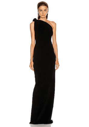 Brandon Maxwell Knotted Top Dress in Black - Black. Size XS (also in S,L).