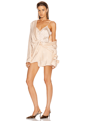Alexander Wang Draped Pajama Romper in Peach - Abstract,Neutral. Size 4 (also in 6,8).