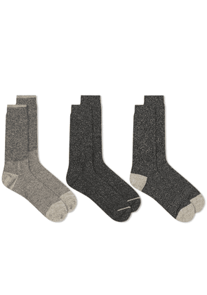 Anonymous Ism Rib Crew Sock - 3 Pack
