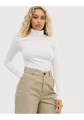 Weekday ribbed turtleneck in cream