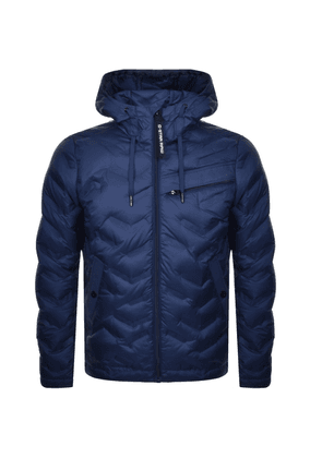 G Star Raw Attacc Hooded Down Jacket Blue
