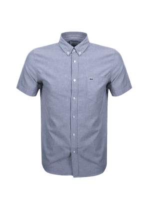 Lacoste Short Sleeved Oxford Shirt Navy