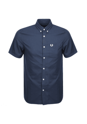 Fred Perry Short Sleeved Oxford Shirt Navy