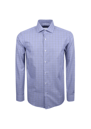 BOSS HUGO BOSS Gordon Check Shirt Blue