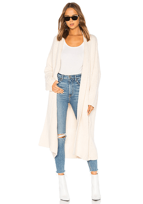 Tularosa Ribbed Cardigan in Neutral. Size L,M,S,XS.