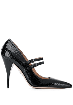 Miu Miu snakeskin effect high-heels - Black