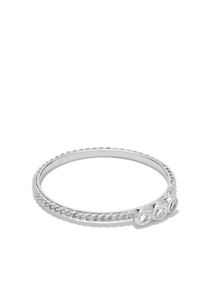 Wouters & Hendrix Gold 18kt white gold Chain Diamond ring