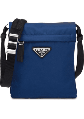 Prada logo shoulder bag - Blue